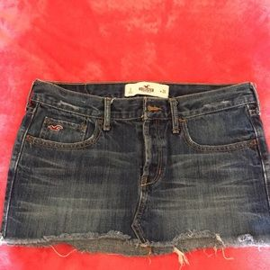Hollister blue jean skirt